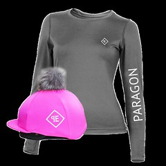 """LUXE SPORT BASE LAYER WITH PARAGON EQUESTRIAN FAUX FUR POM POM SILK - GREY-PINK • <a style=""""font-size:0.8em;"""" href=""""http://www.flickr.com/photos/139554703@N03/37441789306/"""" target=""""_blank"""">View on Flickr</a>"""