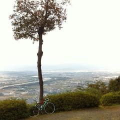 【 初 万灯呂山 】 (jun.skywalker (enishi hand made cyclecap)) Tags: instagramapp square squareformat iphoneography uploaded:by=instagram iphone iphone4 bicycle bike bianchi 万灯呂山