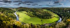 Early Autumn, Yat Rock (Peter Quinn1) Tags: riverwye wyevalley herefordshire yatrock symondsyat meander bendintheriver forestofdean woodland autumn