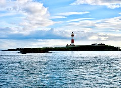 Buchaness Lighthouse - Boddam Harbour Peterhead Aberdeenshire Scotland 2017 (DanoAberdeen) Tags: island isolated isolation alne beacon emergency lighthouse buchanesslighthouse danoaberdeen dano danophotography candid amateur 2017 recent aberdeen harbour grampian boddam buchan buchanhaven nikon nikkor nikond750 scotland scottishhighlands geotagged seafarers northeastscotland psv wss shipspotters aberdeenshire tugboat shipspotting boats vessels tug autumn winter spring summer ecosse scotia schotland escotia peterhead nimbus clouds bluesky