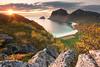 Haukland Beach Lofoten (Dani℮l) Tags: lofoten norway beach haukland autumn sunset atlantic arctic sun sky trees slope mountain water above clouds daniel bosma landscape d750