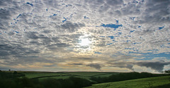 Good Morning Pembrokeshire (Andy.Gocher) Tags: andygocher canon100d sigma18250 uk wales southwales westwales pembrokeshire countryside landscape clouds cloudscape bluesky sunrise