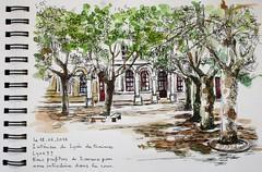 Cour de récréation du lycée des Minimes Lyon 5° (geneterre69) Tags: encredechine cour lycée