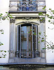 Two balconies, the Eixample, Barcelona