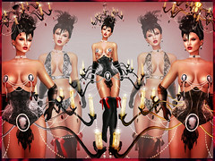 VICTORIAN CHANDELIER (irrISIStible shop) Tags: irrisistible swank shop isis secretspy sl second secondlife autumn halloween hairs hat lamp chandelier victorian burlesque burelesque gothic event fantasy dresss mesh ikon belleza slink applier omega maitreya boots jewel women woman clothes design fashion theater