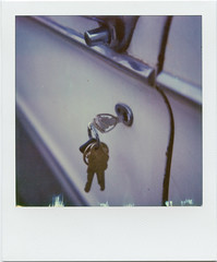 Mercury Key (T-Terror) Tags: polaroid day6 roidweek2017 roidweek polaroidweek instant color impossibleproject poloroidsx70alpha1 sx70 autumnpoloroidweek2017 car keys mercury mercurycomet stationwagon closeup door
