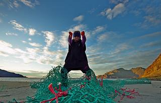 Marine litter. Don't, just don't do it, fishermen.
