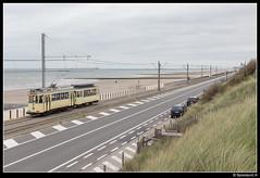 TTO 354 + 70 - Domein Raversijde (Spoorpunt.nl) Tags: 1 oktober 2017 tto noordzee kusttram gentse stadstram motorwagen 354 bijwagen 70 domein raversijde
