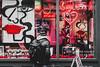 Comme Des (Sean Batten) Tags: london england unitedkingdom gb soho streetphotography street city urban nikon d800 70200 neon red candid person shop glass window
