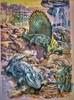 P17 from DE Edition / ( Dimetrodon and Eryops ) (RobinGoodfellow_(m)) Tags: bunter kinder kosmos guarda scopri animali preistoria fmz editrice 1971 book books dinosaur dinosaurs dinosauri prehistoric italia italy vintage art paleoart retro dimetrodon testo animale libro eryops german de edition