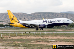 Boeing B737 Monarch G-ZBAV (Ana & Juan) Tags: airplane airplanes aircraft airport aviation aviones aviación boeing 737 b737 monarch monarchairlines alicante alc leal landing sunset spotting spotters spotter planes canon closeup