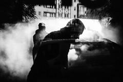 Car Wash 42.365 (ewitsoe) Tags: monochrome bnw blackandwhite ewitsoe nikon d80 35mm street city car wash highpressure pressurewash steam clean cleaning autumn fog mist peopel silhouette chromatic chrome window relfection cityscape reflect people