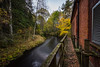 kraftwerk1 (mibe661) Tags: oldbuilding old water current autumn soonwinter winter yellow leaf efs1022mm