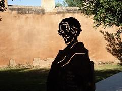 Monasterio de Veruela, a Becker. (Eduardo OrtÍn) Tags: becker poeta escultura vera veruela aragon zaragoza monasterio muralla