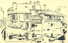 Rue du Pont - Tonnerre (lolo wagner) Tags: urbansketchers usk croquis sketch tonnerre bourgogne