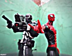 Team Up (THE AMAZING KIKEMAN) Tags: marvel select diamond toys comics action figures peter parker otto octavius doctor octopus agent venom flash thompson superior spiderman