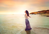 Joy For Life (Edie Layland) Tags: beach sunset beautiful happiness smiling water sea relaxation youngadult freshness