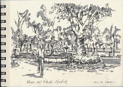 Paseo del Prado (f.gómezcorisco) Tags: rotulador madrid airelibre castejao urbansketchers cuaderno apunte boceto dibujo