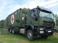 Iveco Trakker 450 - Bundeswehr (TIMRAAB227) Tags: iveco trakker trakker450 modularesanitätseinrichtung zentralersanitätsdienstderbundeswehr jointmedicalservice bundeswehr fieldhospital truck nrwtag2016 düsseldorf