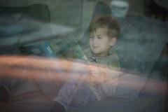 (/lulu) Tags: kid child lights book reading myson son boy portrait clever home morning
