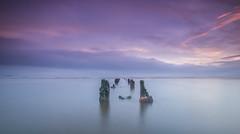 High & Dry (ianbrodie1) Tags: portobello beach scotland edinburgh posts sea seascape starfish longexposure nikon coast coastline cloud ocean leefilters sunrise waves island