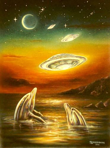 Celestial Visitation-Chalk Pastel & Gouache