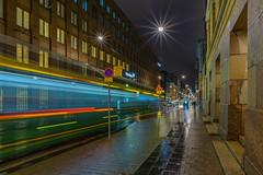 Helsinki Tram (kanaristm) Tags: helsinkitram helsinki street tram light trail