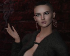 LOOK NO. 525: I DON'T SMOKE BUT SOMETIMES I NEED A LONG DRAG (violettes.closet) Tags: saga limit8 kaithleens treschic lelutka bento westend thechapterfour ysys tableauvivant sl secondlife