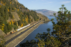 Autumn Breaking In The Gorge (PNW Rails Photography) Tags: unitedstates underwood washington fallbridgesubdivision bn bnsf 2958 emd gp392 local columbia river gorge train