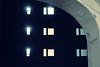 Inner sanctum (No_Mosquito) Tags: arch contrast city night lights urban vienna windows canon powershot g7xmarkii landstrase dark building