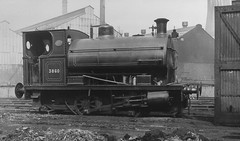 syks - hadfields east hecla works sheffield no 3860 peckett 1383 of 1915 seen in 1949 (johnmightycat1) Tags: station steam peckett sheffield steelworks industrial yorkshire