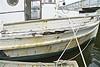 Many Nautical Miles (sswj) Tags: weathered weatheredboat oldboat woodboat harbor pillarpoint halfmoonbay northerncalifronia pacificcoast westcoast california coastalcalifornia scottjohnson availablelight naturallight existinglight nikon d600 nikkor28300mm composition dslr fullframe sanmateocounty boatspirit dock mooringlines