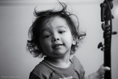 Bad hair day, what's that? **** EXPLORE **** (einarsoyland) Tags: nikond610 zeiss planar t 1485 85mm profoto b2 flash grain lookslikefilm zf2 people portrait boy sweet son cute hairday smile happy bw monochrome