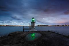 Bradleys Head Light || Sydney (David Marriott - Sydney) Tags: mosman newsouthwales australia au bradleys head light lighthouse sydney harbour twilight sunset reflection