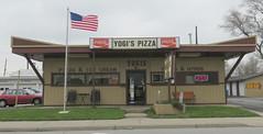 Yogi's Pizza (jimsawthat) Tags: coke cocacola flag smalltown kokomo indiana pizza diner greasyspoon