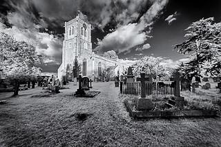 Ghostly churchyard
