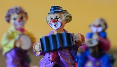 ...Just the three of us... (Explored) (cegefoto (still less active)) Tags: macromondays memberschoisemusicalinstruments clown orchestra musicalinstruments macro figurines miniature