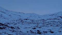 Blue in the snow (davidbrothers) Tags: winter blue norway norge olympus omsystem mountain outdoors