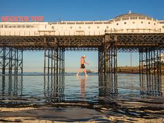 Low tide Brighton swimmer (lomokev) Tags: brightonpier brightonswimmingclub beach low postedtoinstagram sea sport swimming westpier wildswimming file:name=170922omdem59220344 olympusomdem5 olympus omd em5 olympusomd morning lowtide brighton pier palacepier