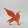Winged wolf (triangleorigami) Tags: wings wolf origami paper folding triangleorigami trigami origamivietnam nguyenlinhson