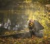 Leaves in my heart.. (olgafler) Tags: girl autumn leaves water sun beautifull reflextion