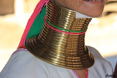 Neck coil - Kayan tribe, Thailand (cattan2011) Tags: 泰国 culture kayantribe thailand traveltuesday travelbloggers travelphotography travel streetart streetpicture streetphoto streetphotography neckcoils objects woman portrait landscapeportrait