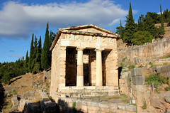 Treasury of Athens (ika_pol) Tags: unesco unescogreece worldheritage greece delphi antiquity ancient ancientgreece ancientruins geotagged parnassusmountains