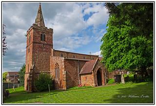 England, Northamptonshire - St. Faith's Church - Kilsby - in the Warm Evening Sunshine