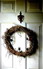Country Wreath (baypeep) Tags: flickrfriday wreath door