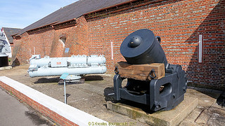 Outside display at the Explosion Museum, one of the attractions at the Portsmouth Historic Dockyard in September 2017, Gosport, Hampshire, England.