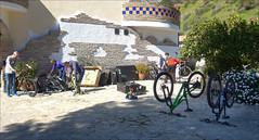 Bike Building (kate willmer) Tags: building courtyard mountainbike bicycle bike biking wheels frames sunshine elchorro andalucia spain