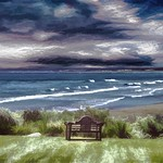 Looking Out to Sea - Waves and Clouds thumbnail