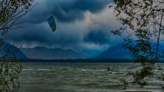 mare bavarica (Alta Alteo) Tags: bayrischesmeer chiemsee chiemgau alpen übersee altegendamierieuebersee kite kitesurfen surfen sturmtief xavier altegendamerieübersee wolken