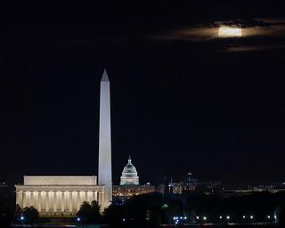 Harvest Moon over Washington DC